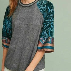 Anthropologie Tiny Printed Cassidy Jersey Burnout